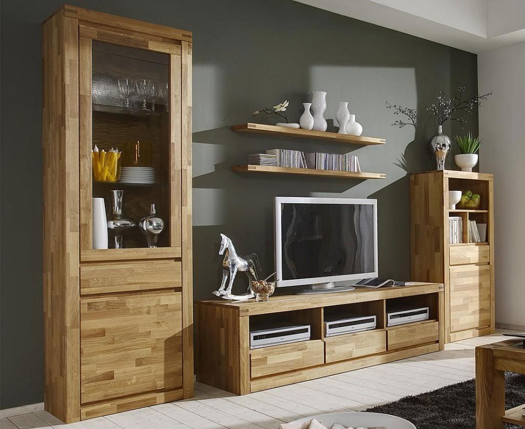 casa collection massivholz wohnwand anbauwand wildeiche