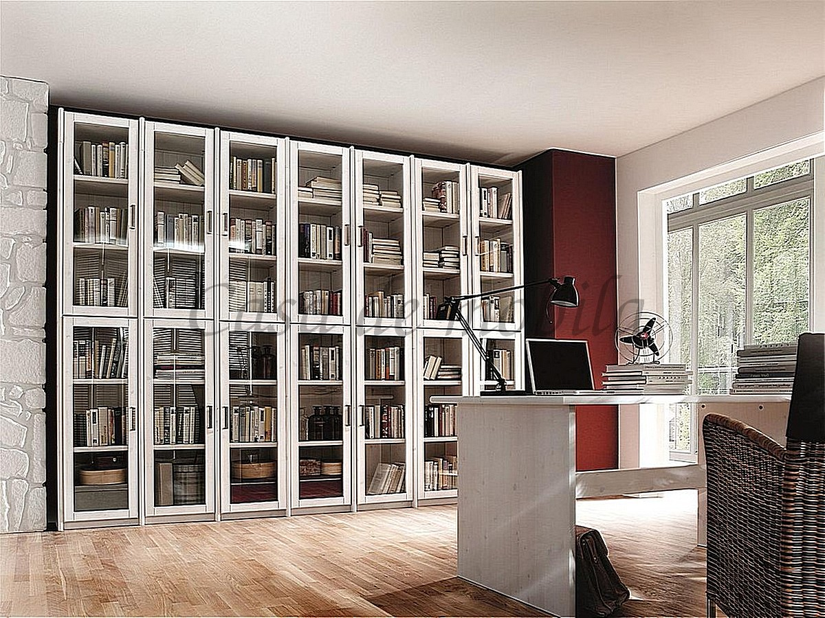 Bücherregal Naturholz Büromöbel Massivholz Kiefer Möbel - Massivholzmöbel In