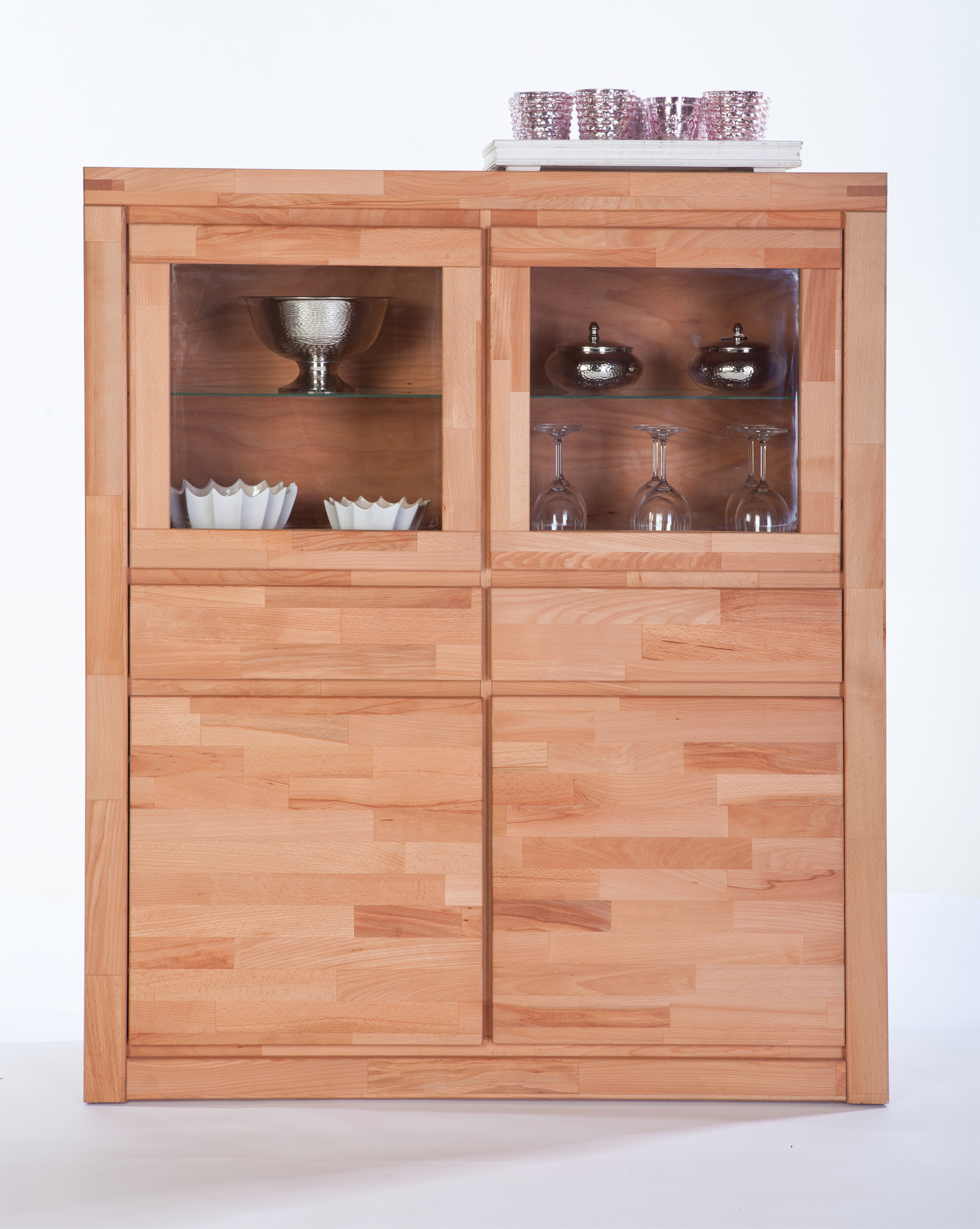 Highboard 120 Cm Breit Highboard Kernbuche Massiv