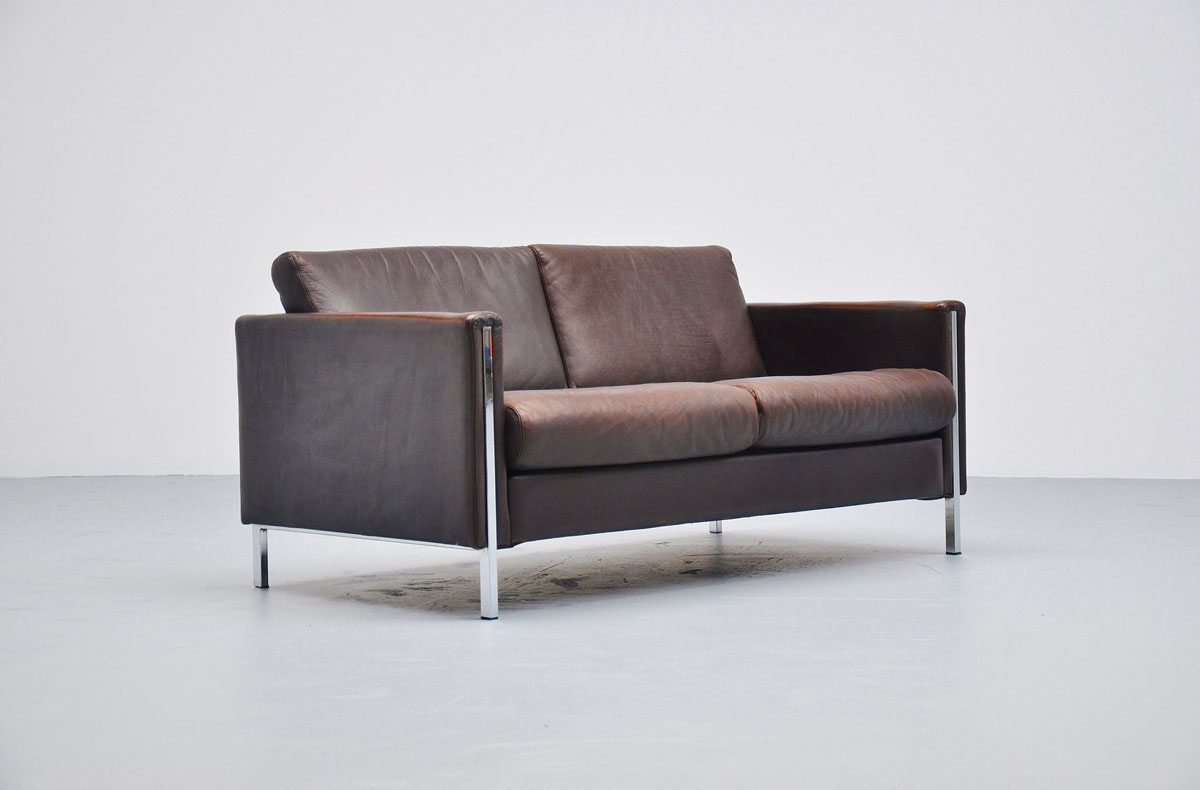 Pierre Paulin Sofa Pierre Paulin 442 2 Sofa In Brown Leather Artifort 1962