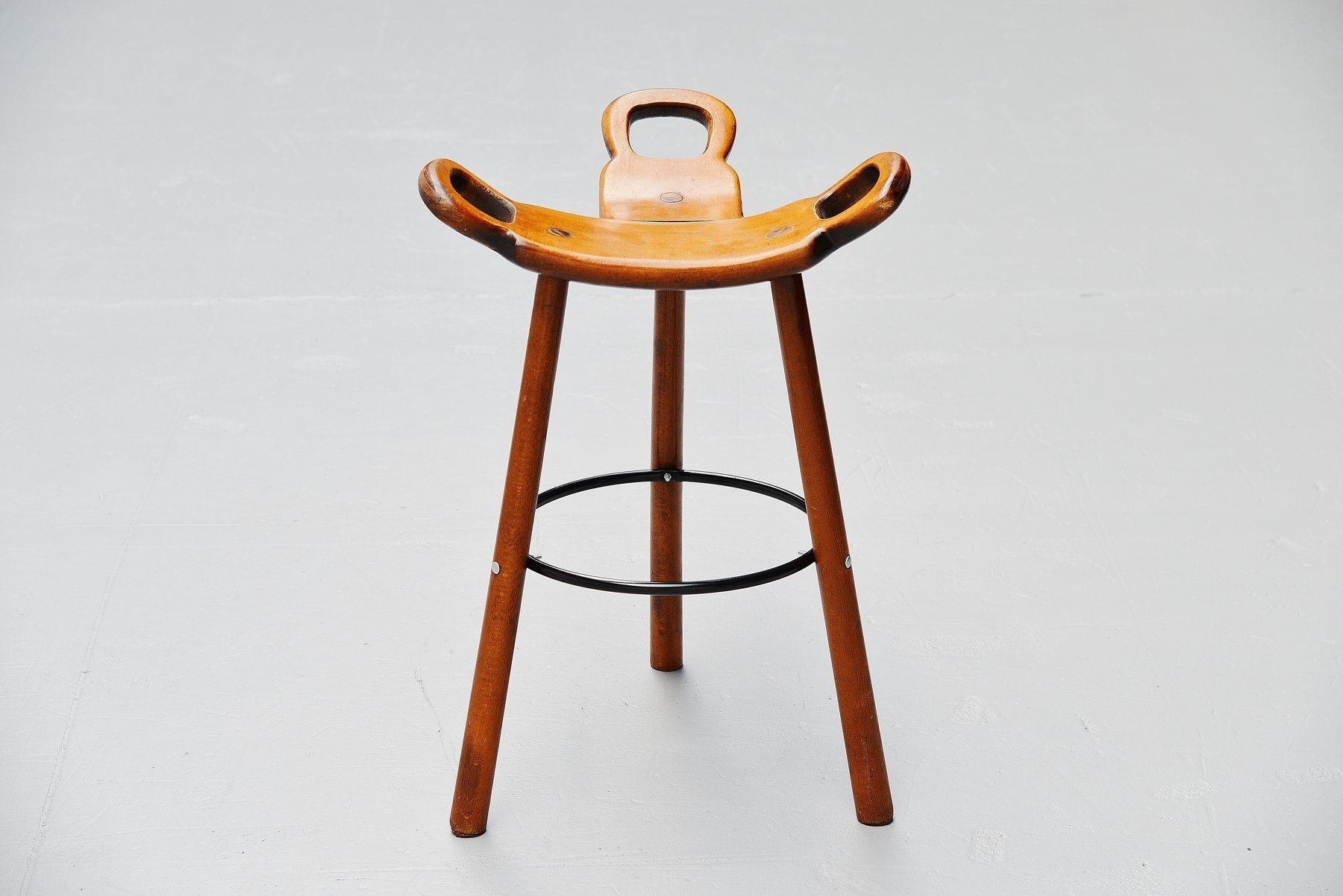 Swedish Bar Stools Carl Malmsten Attributed Brutalist Bar Stools Sweden 1950