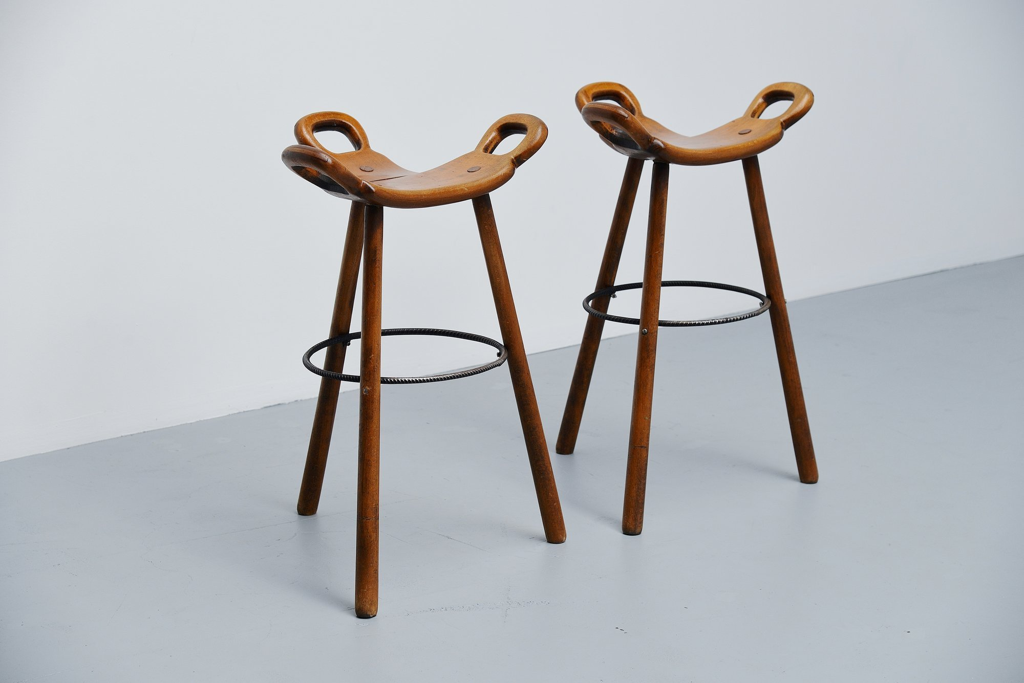Swedish Bar Stools Carl Malmsten Bar Stools Attributed Sweden 1950