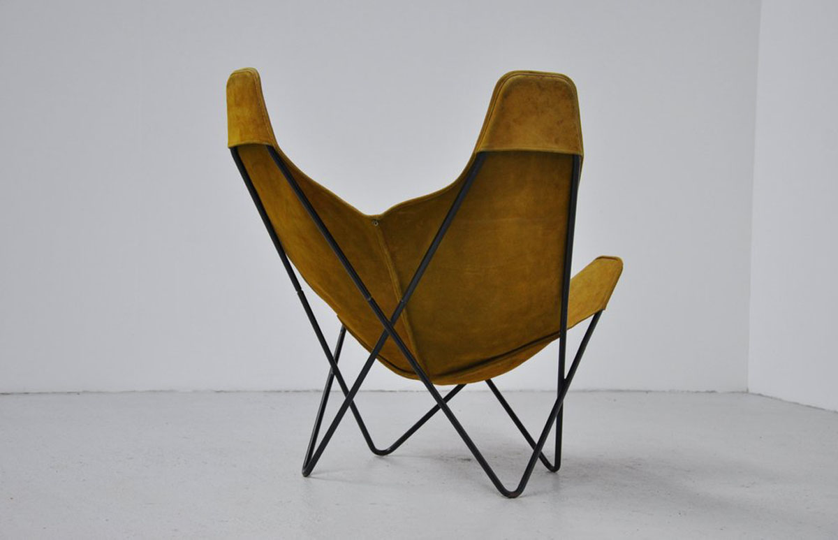 Butterfly Chair Knoll Hardoy Butterfly Chair In Green Suede Knoll 1970 Massmoderndesign