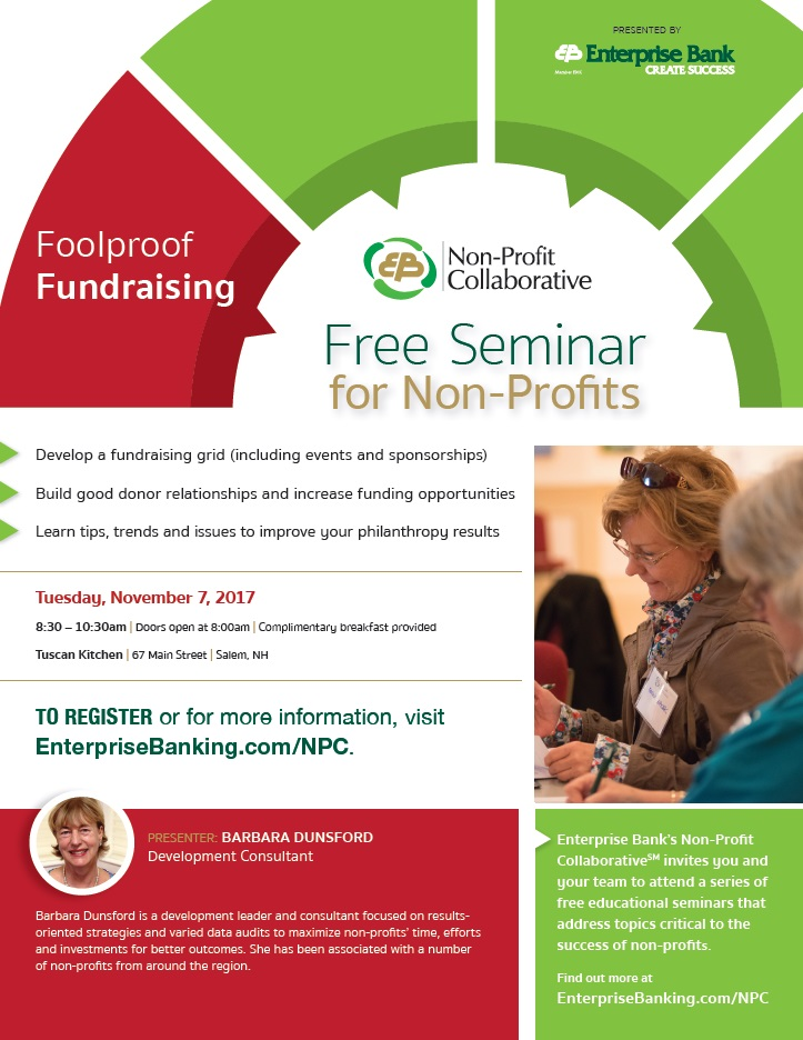 Foolproof Fundraising flyer - Massachusetts Nonprofit Network