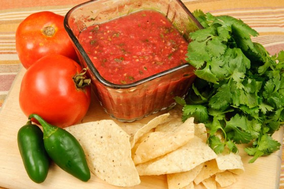The really is nothing better than fresh salsa.  In fact, I know several gardeners that grow nothing but onions, peppers, tomatoes and cilantro so they can enjoy this treat fresh and then can it for later.  Photo by Bruce Leander