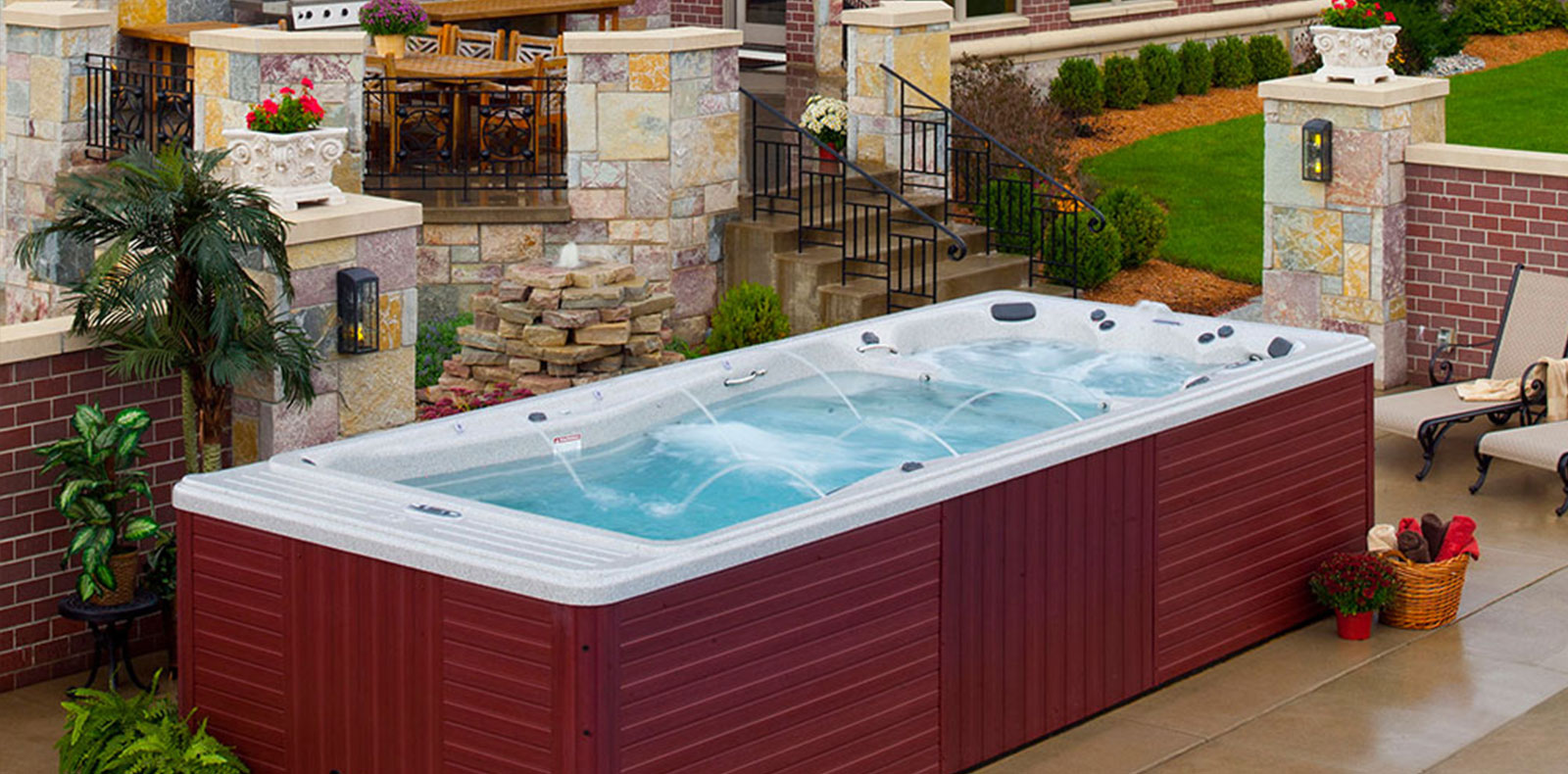 Whirlpool Outdoor Swim Spa Home Master Pool And Spa