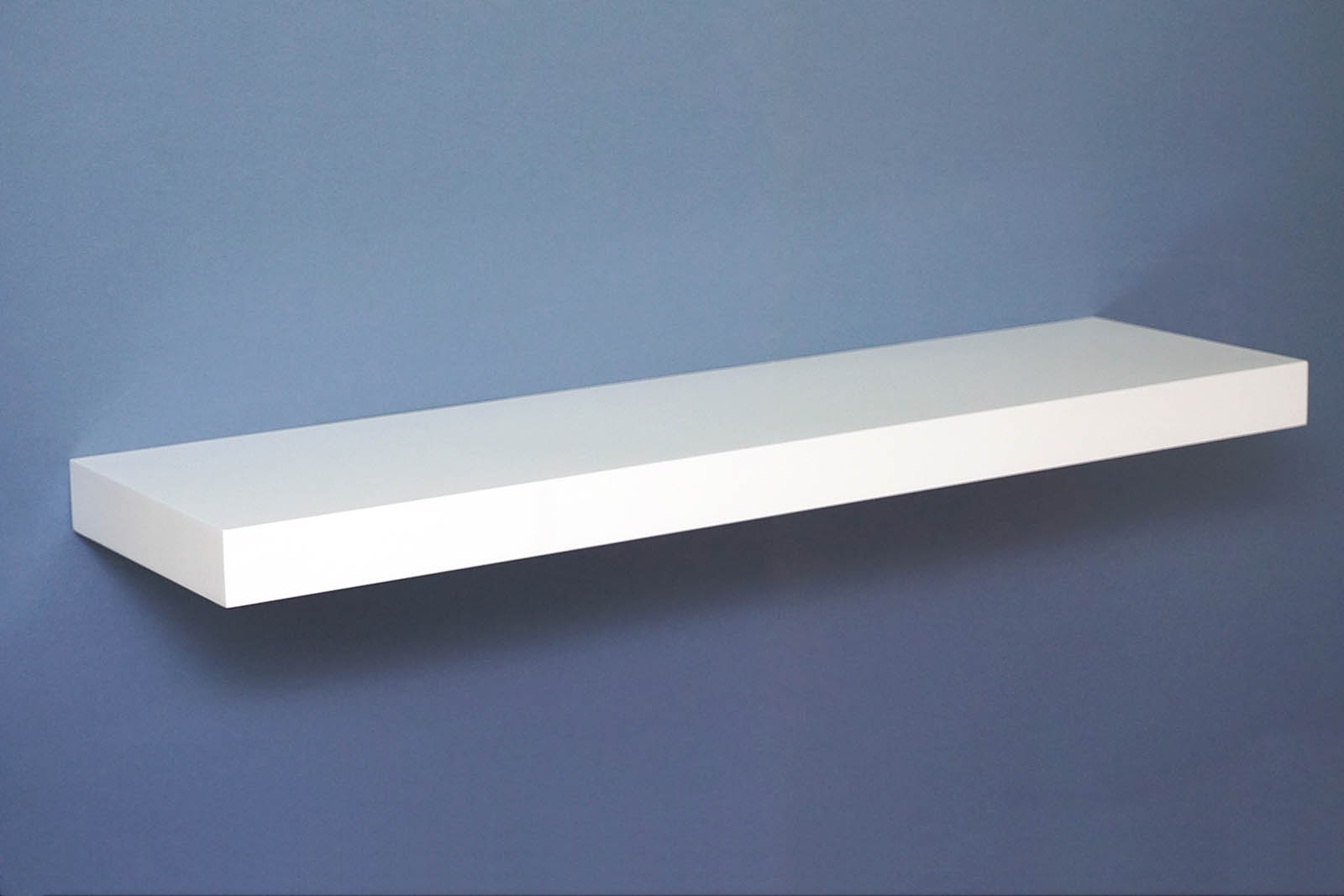 White Floating Shelves Gloss White Floating Shelf 900x250x50mm - Mastershelf