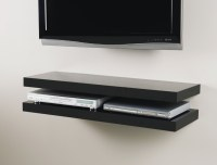 Black Media Floating Shelf Kit 900x300x50mm
