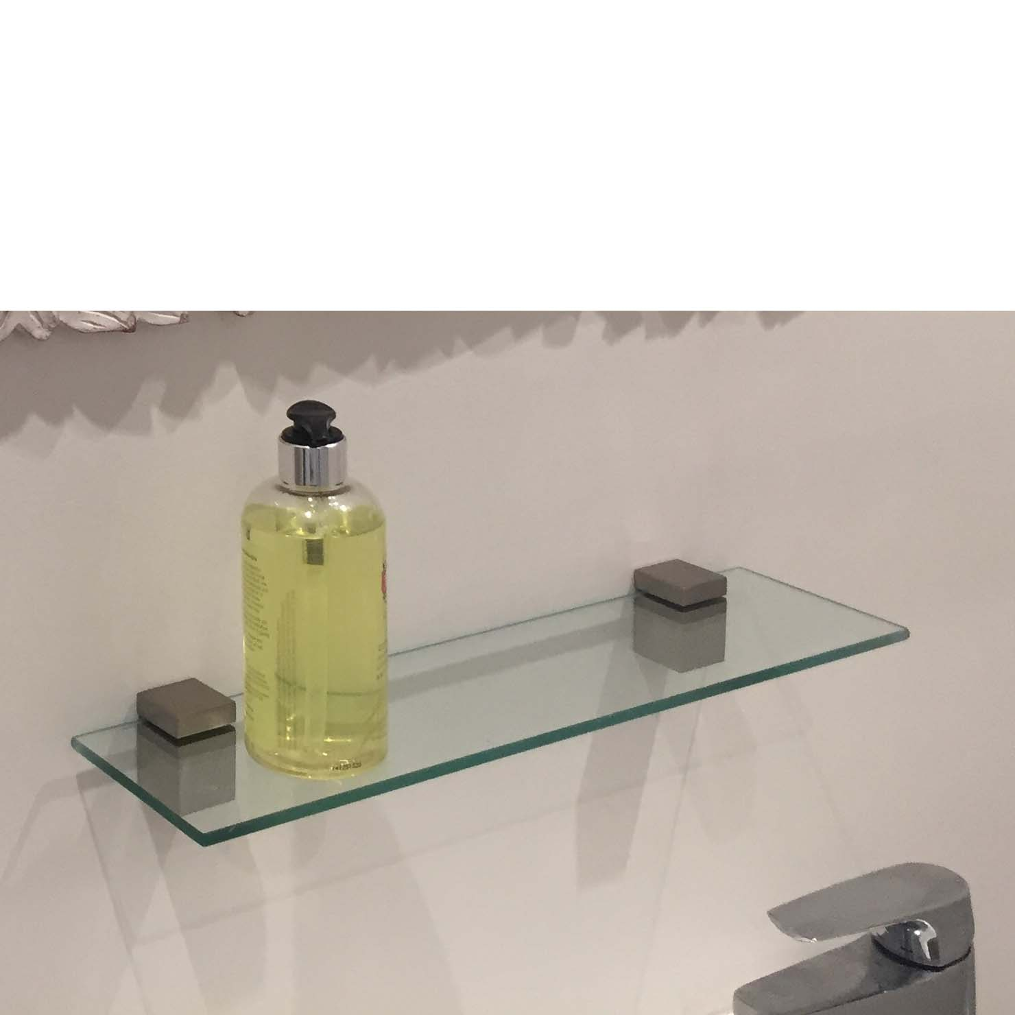 Cube Glass Shelf Kit 400x100x6mm Mastershelf