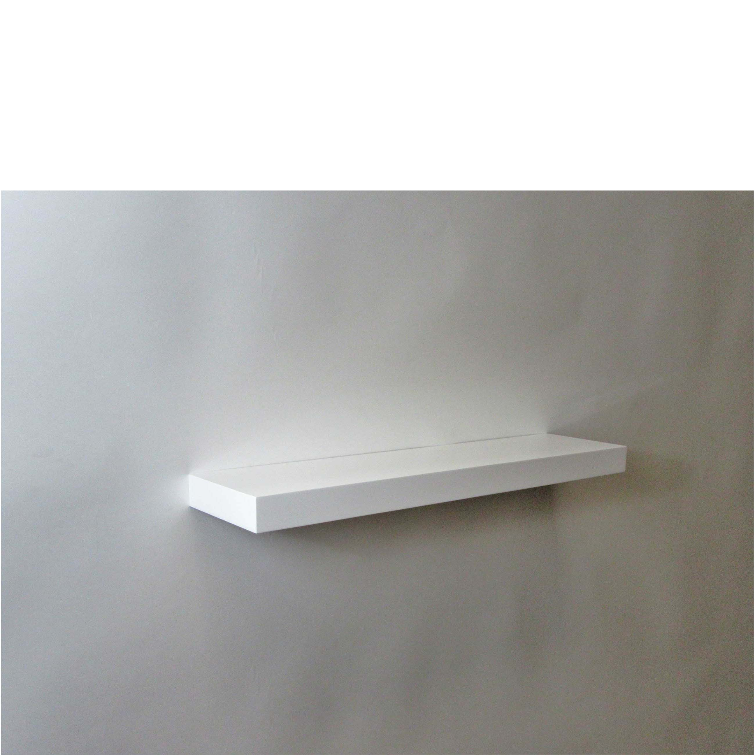 White Floating Shelves Gloss White Floating Shelf 600x150x38mm - Mastershelf