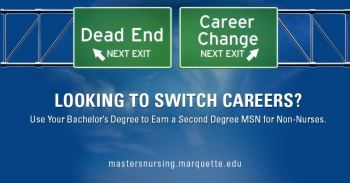 Time for a Career Change? Earn a Second Degree MSN Direct Entry