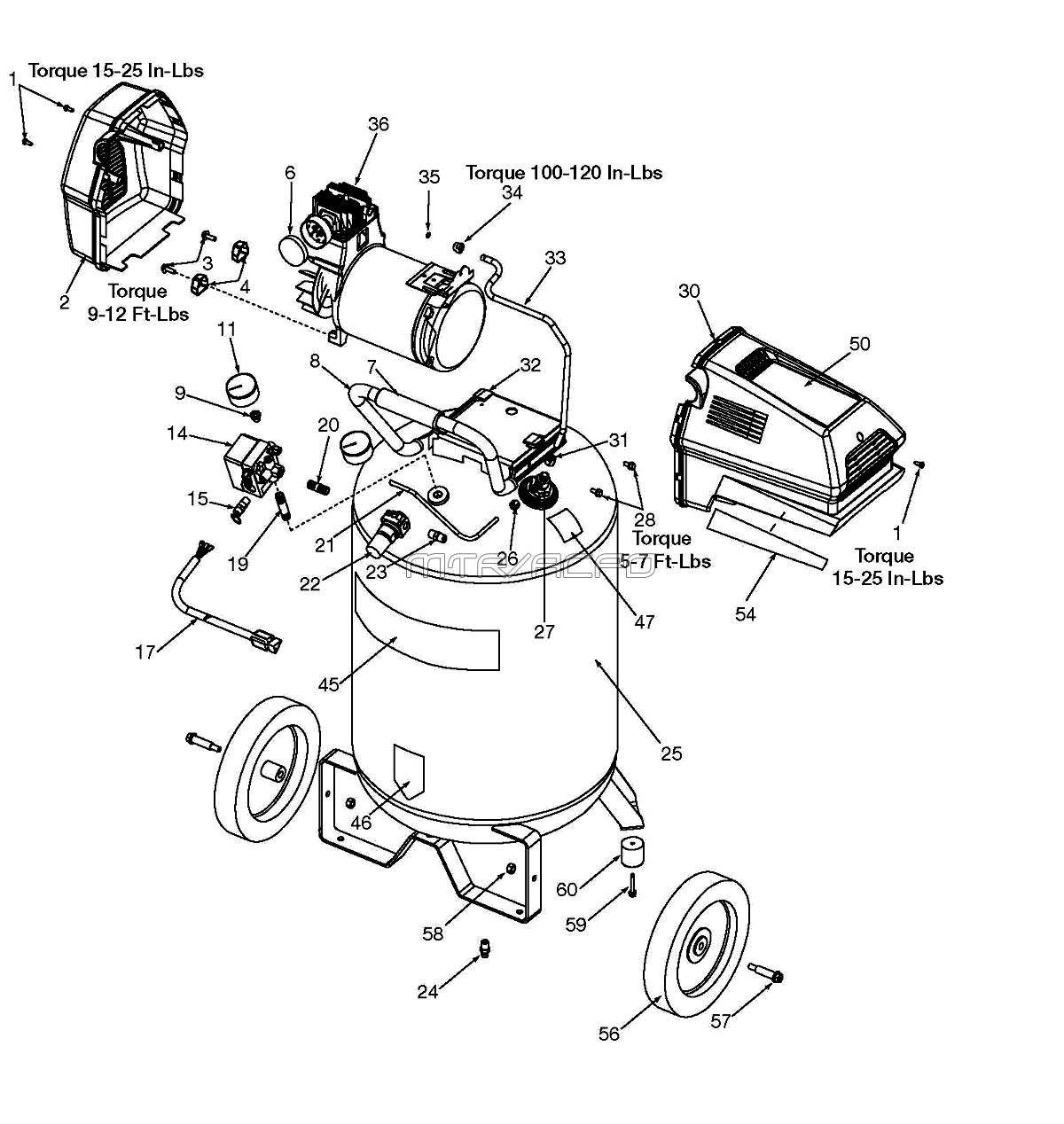 craftsman airpressor wiring diagram