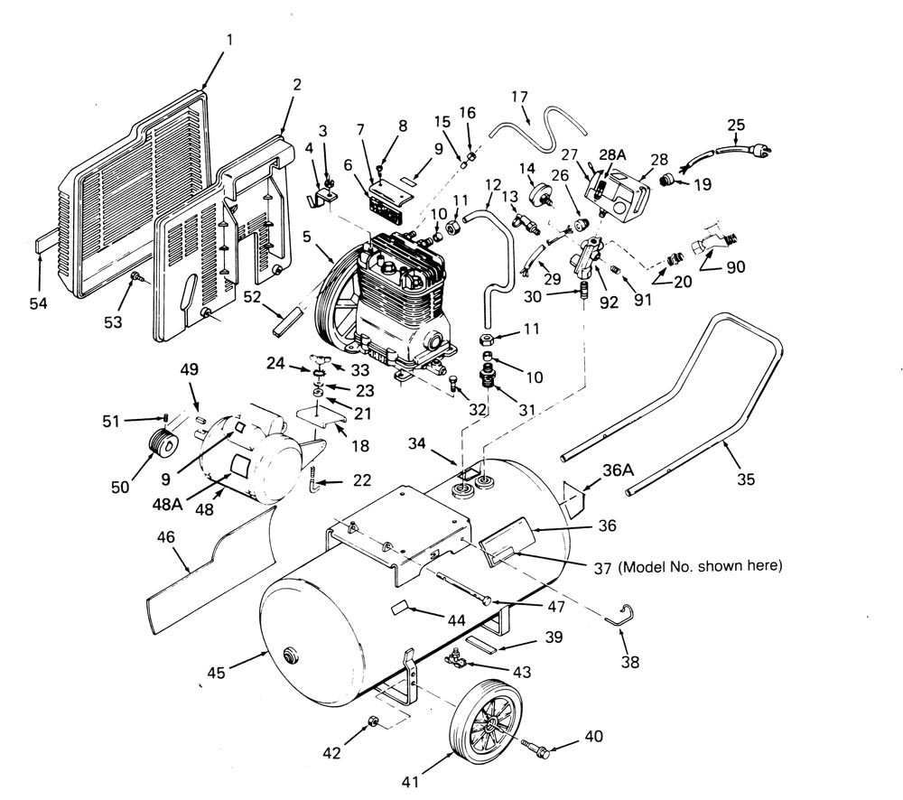 wiring diagram for a air compressor