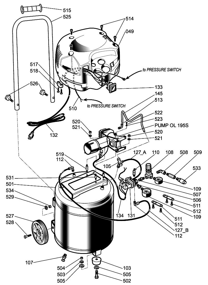 switch for on portable air compressor pressure switch wiring diagram