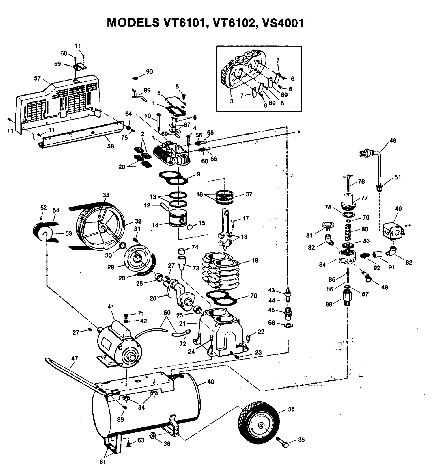 air compressor diagram and parts list for campbellhausfeld air
