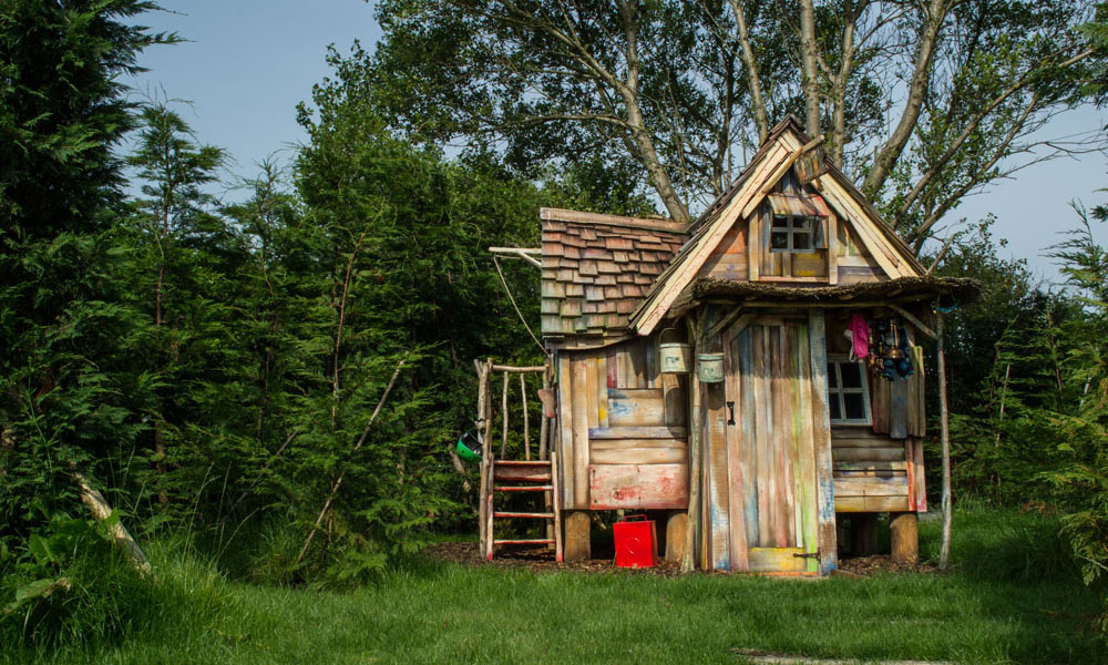 Maisonnette Bois Wonky Tonk - Luxury Bespoke Wooden Playhouse For Kids
