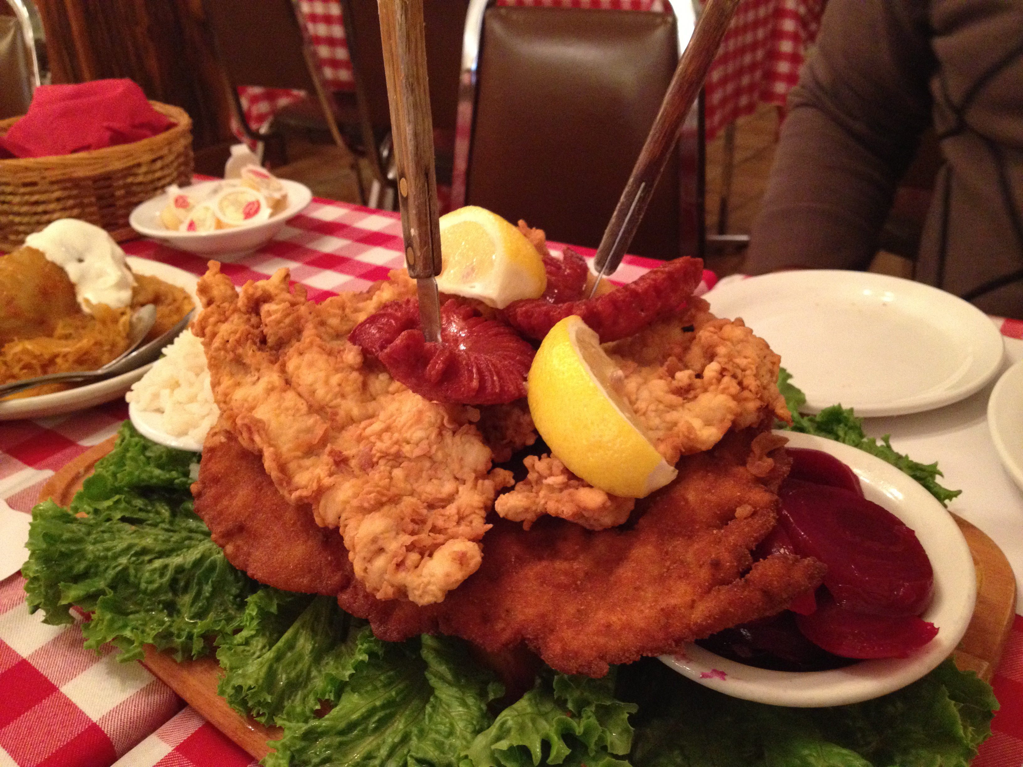 Schnitzel Restaurant Country Style Hungarian Restaurant Masticating Molars