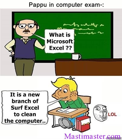 Husband And Wife Love Quotes Wallpapers Pappu In Computer Exam Funny Cartoon Photo Masti Master