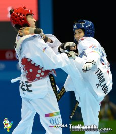Panipak Wongpattanakit (THA) y Ceren Ozbek (AZE)