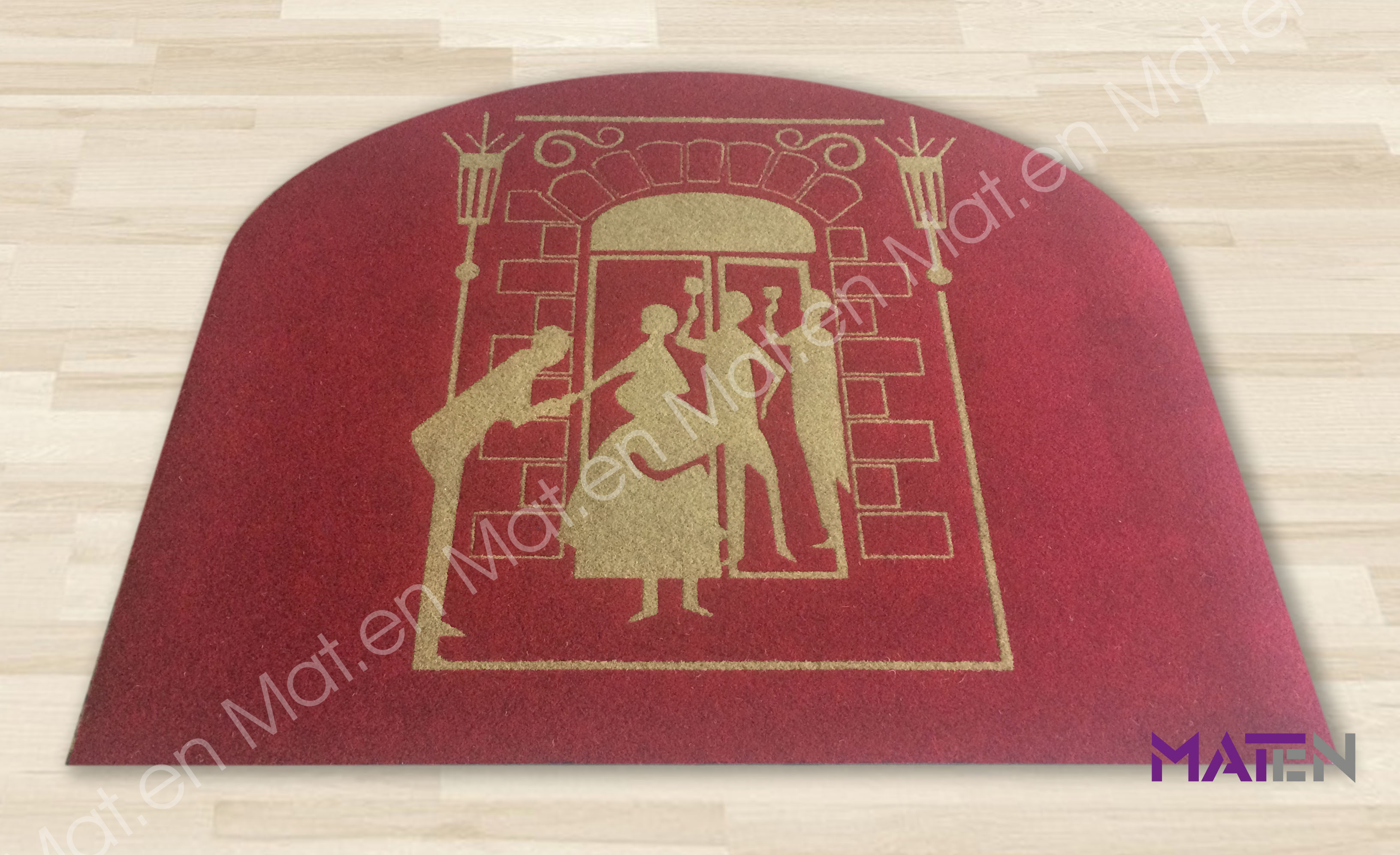 Fussmatte Türkis Inlay Technique Mat En S R L Manifacturing And Selling Doormats