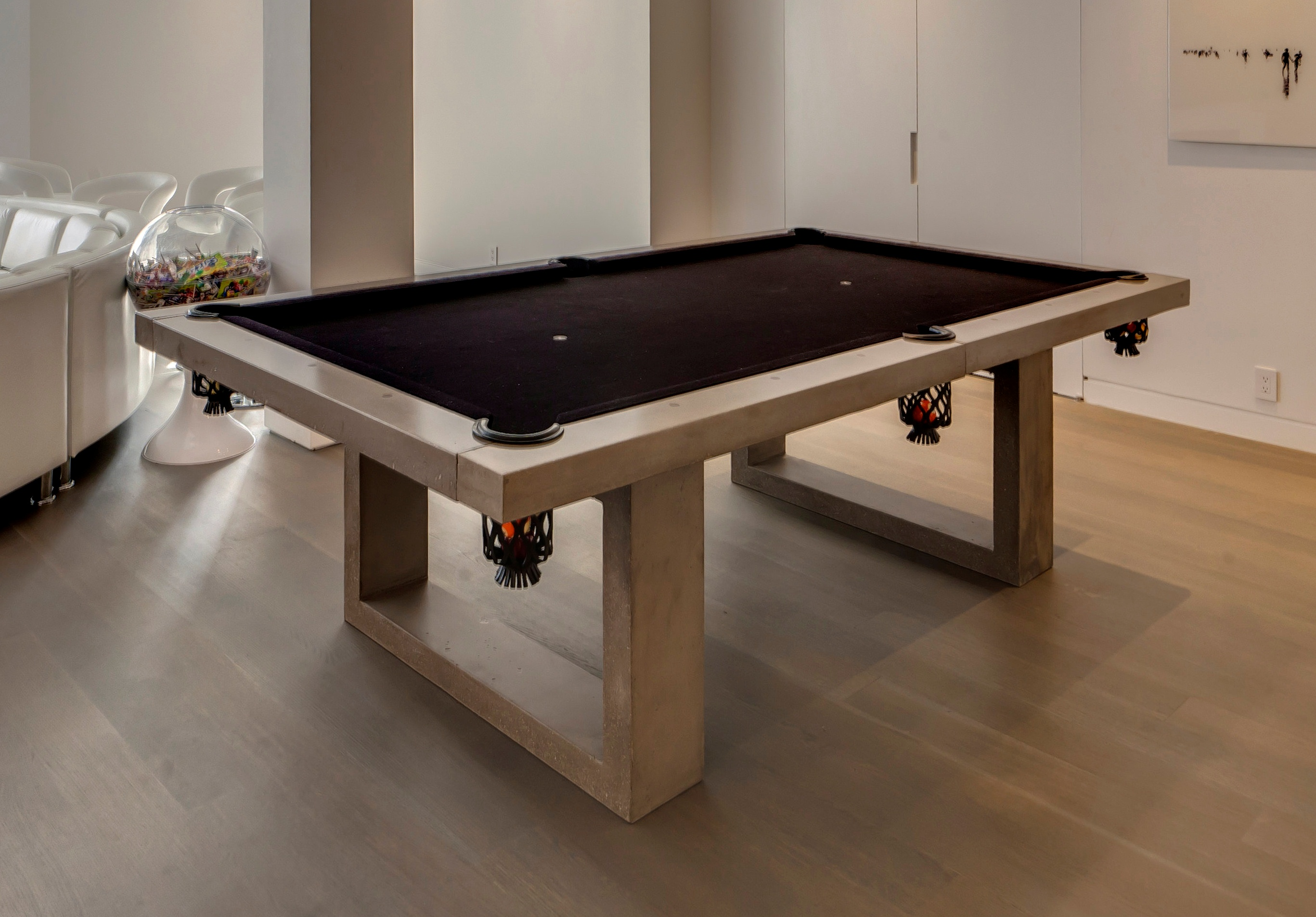 Diy Pool Table Dining Top Concrete Pool Table By James Dewulf