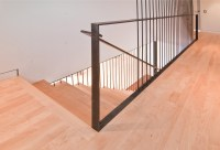 Modern Stair Railing.Contempoary Stair Railing. Iron