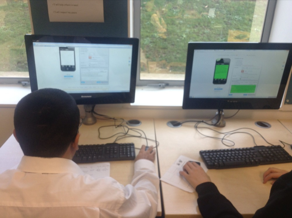 Students making apps