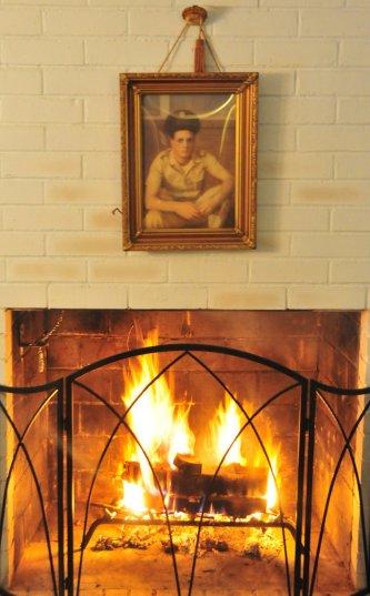 Newly-fixed fireplace