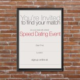 Speed Dating Flyer
