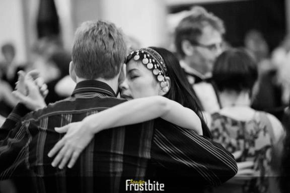 Hellen Chen dancing Argentina Tango in Helsinki Finland -Frostbite Tango 2013