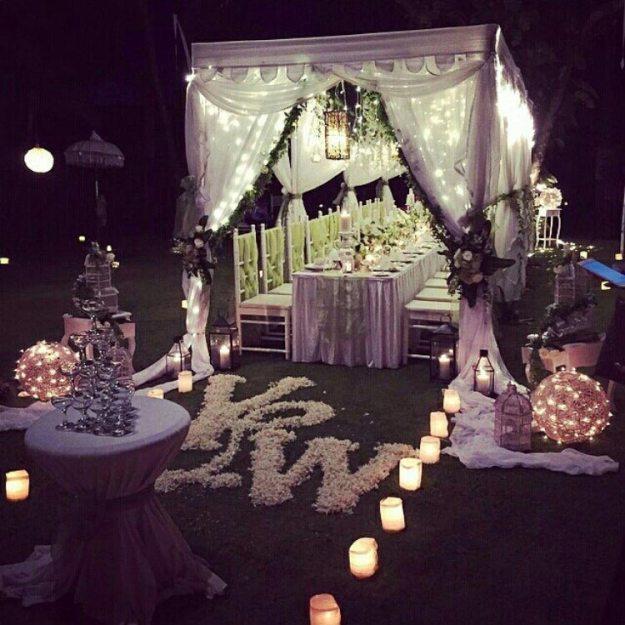 海島沙灘浪漫婚禮-巴里島肉桂VILLA-花園晚宴