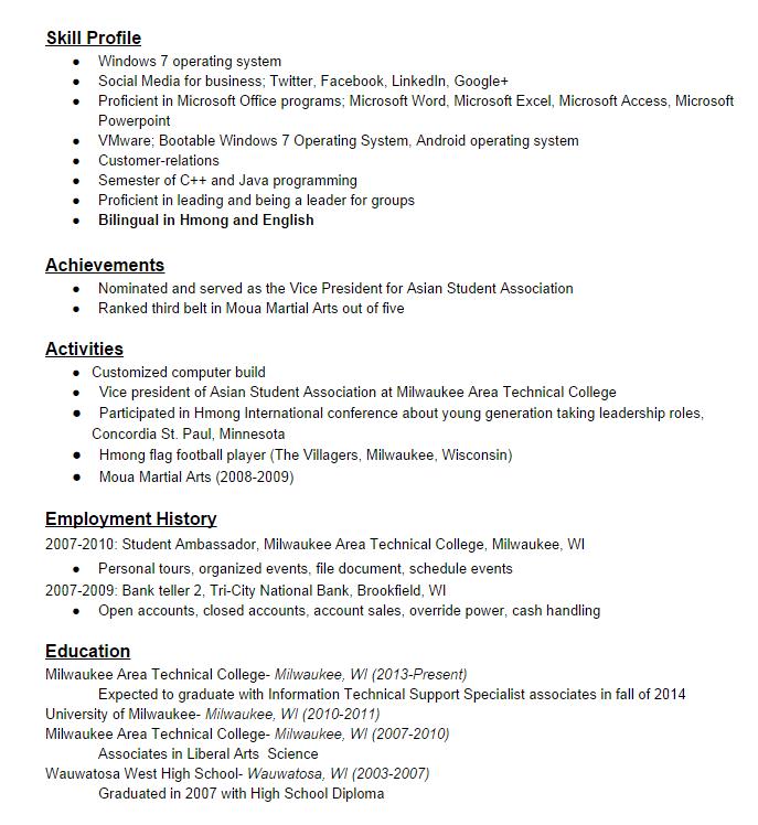 Resume Example High School Diploma | Sample Customer Service Resume