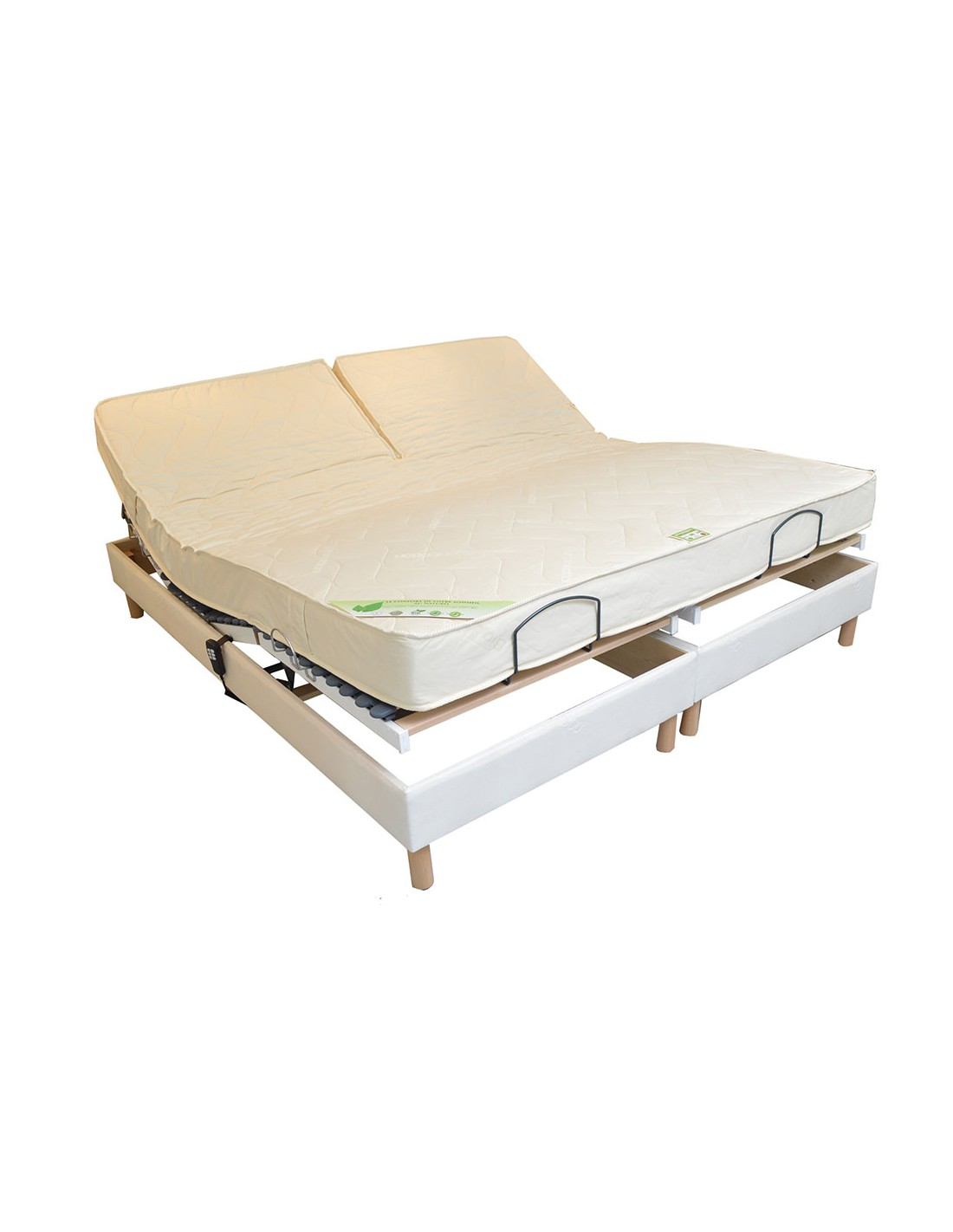 Matela Latex Matelas Bio Latex De Relaxation 160x200 Bi Tête Naturel