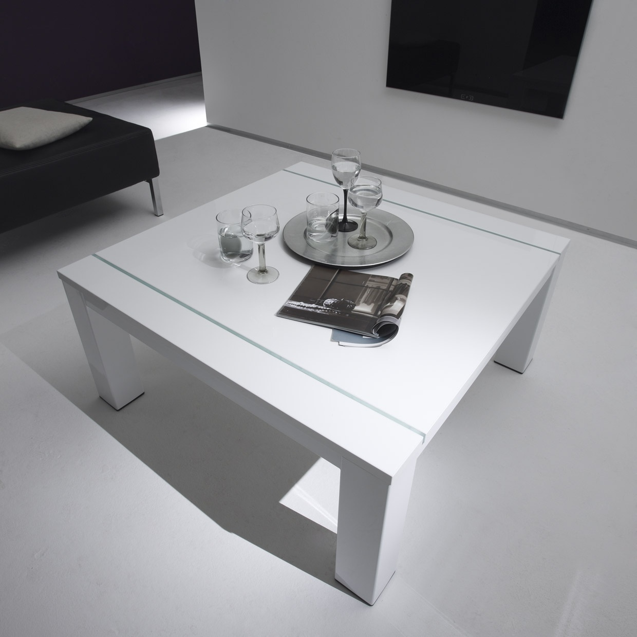 Table Basse Laquee Blanc Table Basse Rectangulaire Design Laqué Blanc Excellence