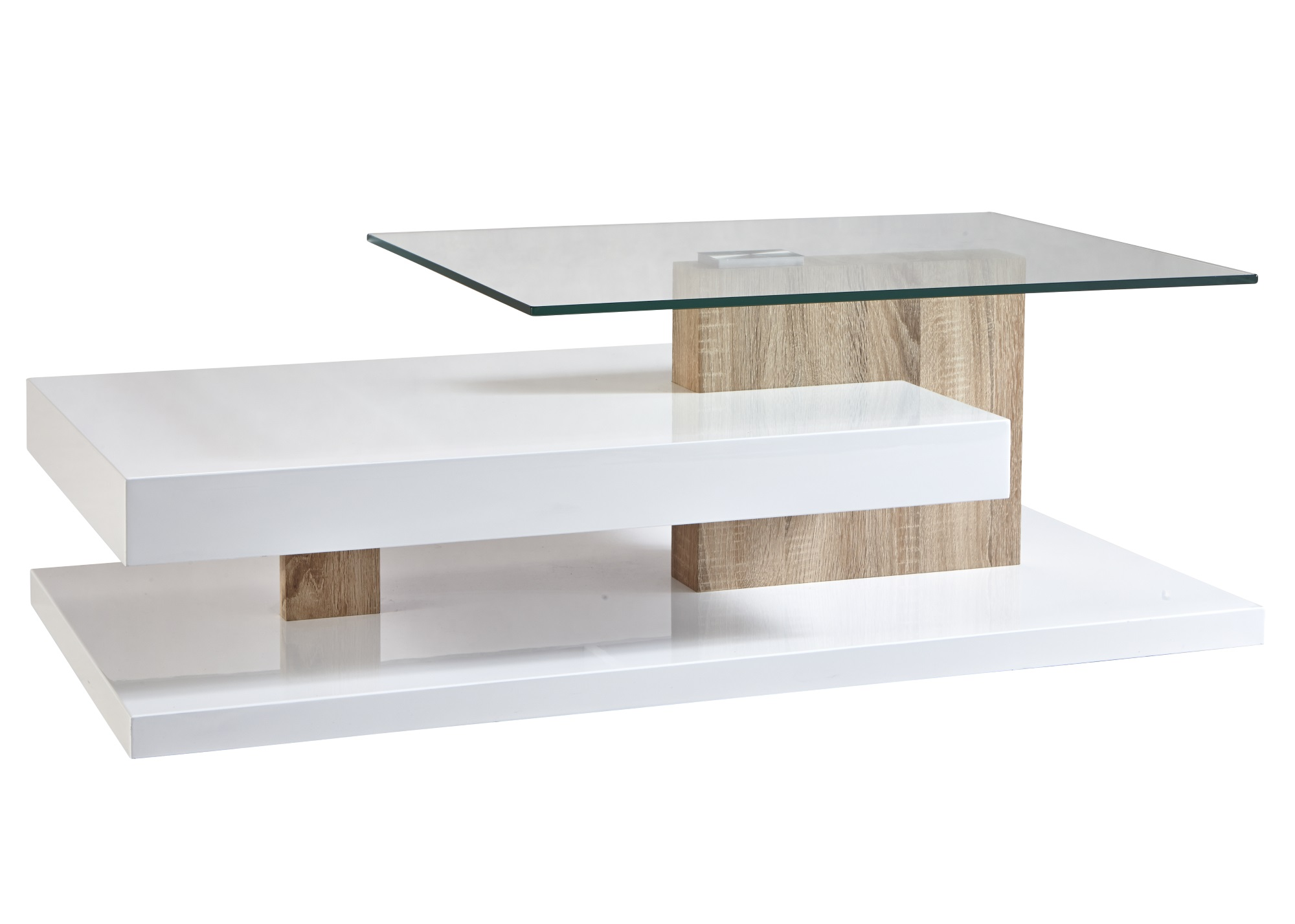 Table Basse Bois Et Verre Table Basse Contemporaine Rectangulaire Bois Verre Cyriane