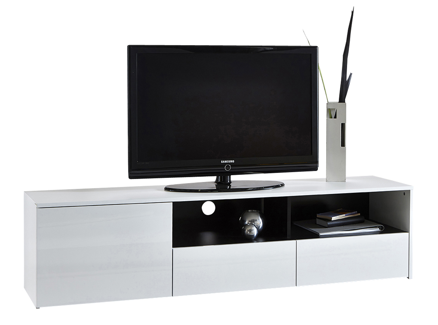 Meuble Darwin Meuble Tv Design Blanc Brillant Darwin