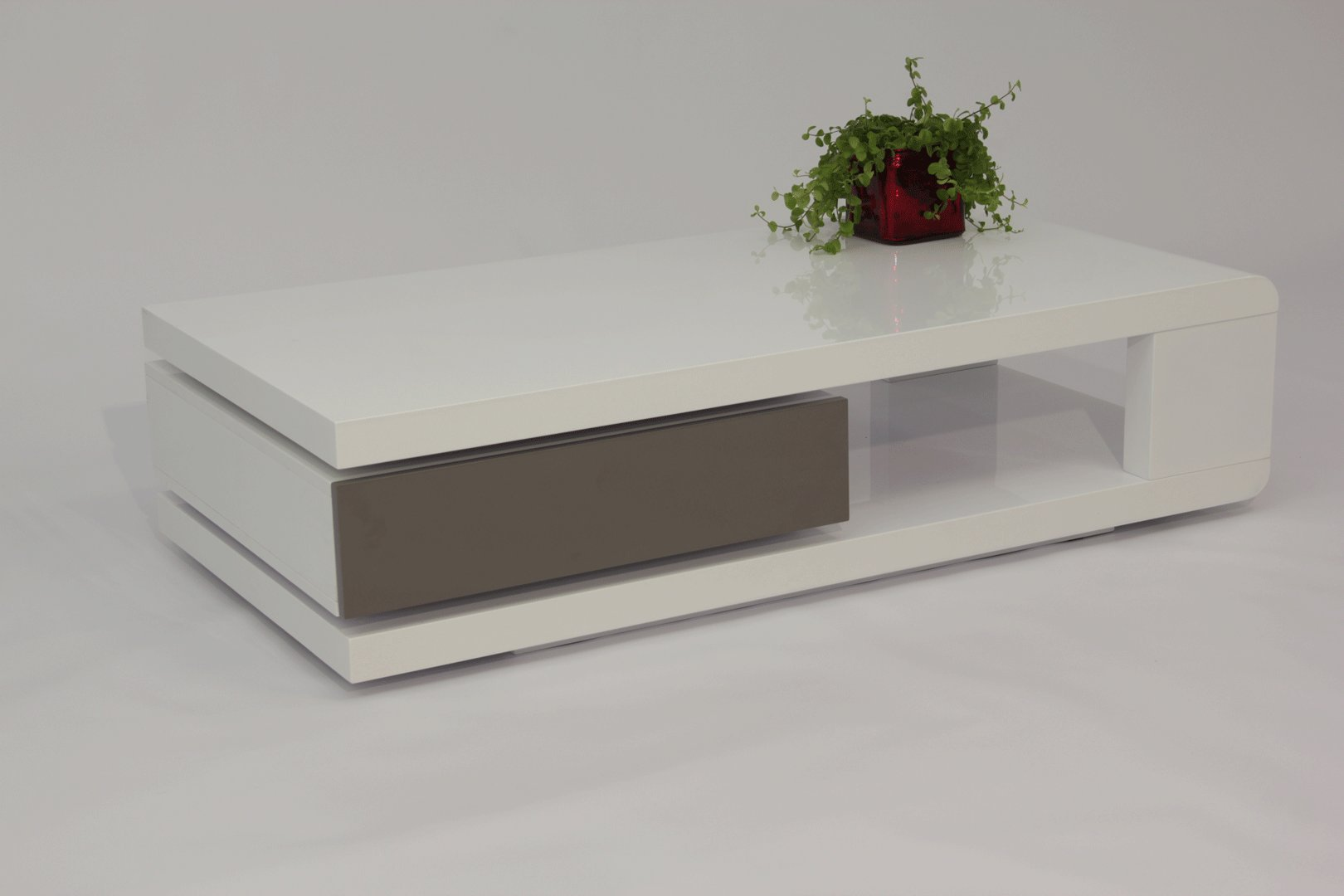 Table Basse Design Blanche Table Basse Design Laquée Blanche Et Grise Jawa Matelpro