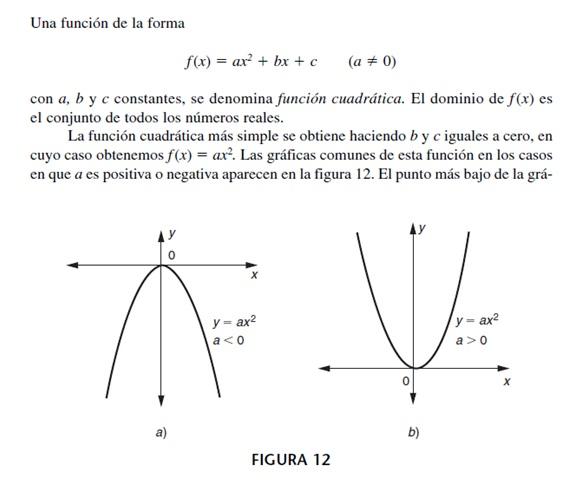 Funciones cuadráticas y parábolas \u2013 Matemática Aplicada a la - funciones