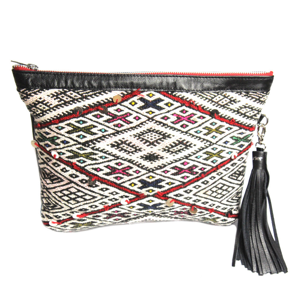 Kilim Paris Kilim Clutch Saint Germain Red Maud Fourier Paris