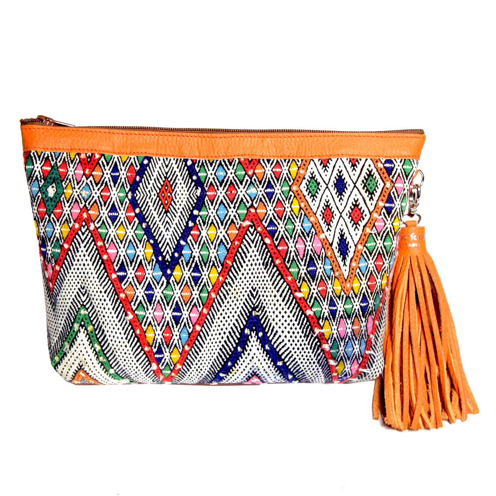 Kilim Paris Kilim Clutch Saint Germain Orange Maud Fourier Paris