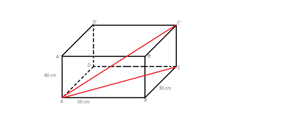 diagonala intr-un paralelipiped