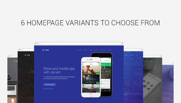 Top 5 Material Design landing page templates - app landing page template