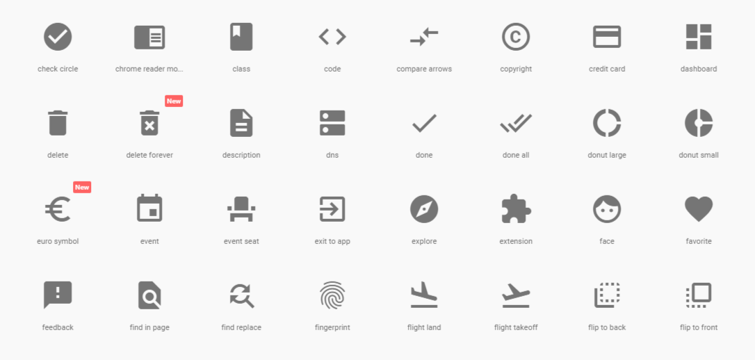 Google Releases Material Icons 22