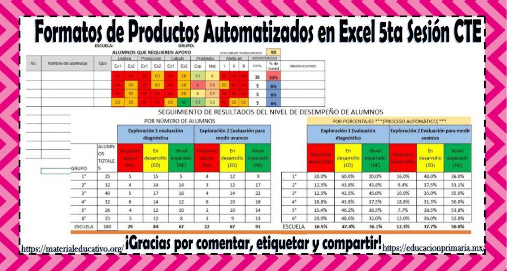 Formatos de productos automatizados en Excel para la quinta sesión - formatos para gafetes