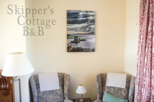 Francesco Perratone art at Skipper's Cottage, Kilchoan, Ardnamurchan, Scotland