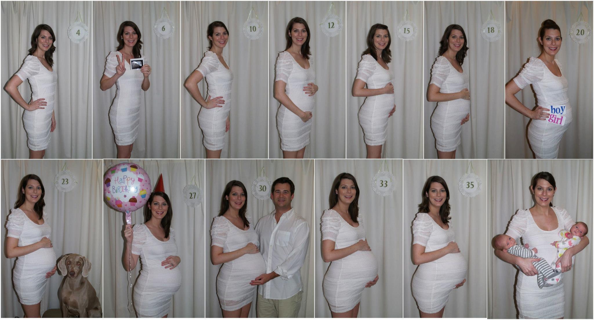 Фото беременной женщины по неделям