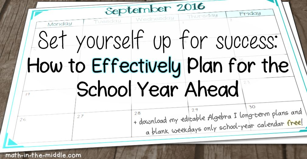 school year planning calendar - Josemulinohouse - teachers planning calendar
