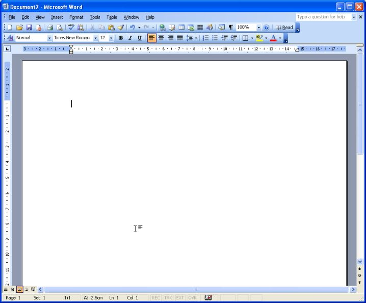 Lesson One Microsoft Word for Windows
