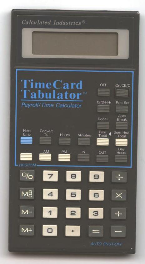 time payroll calculator
