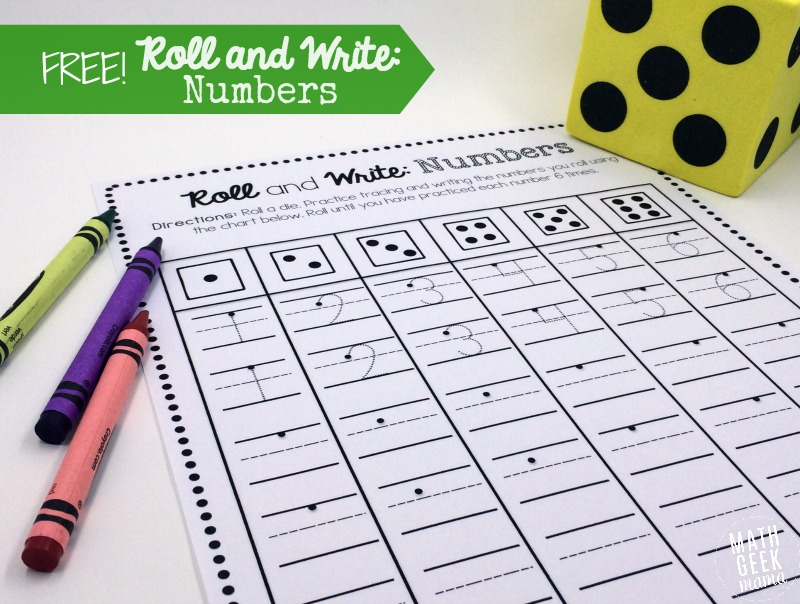 Roll and Write Number Practice Pages - Numbers In Writing
